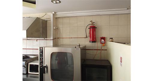 Κατασκευή συστήματος πυροπροστασίας σε μαγειρίο